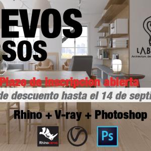 VUELVE NUESTRO CURSO DE RHINO+VRAY+PHOTOSHOP EN FORMATO PRESENCIAL ONLINE